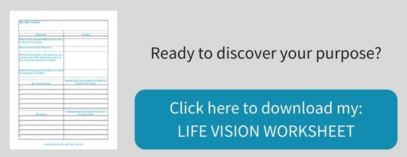 life vision and purpose worksheet