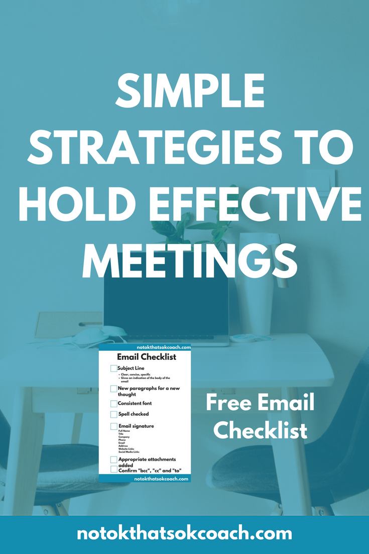 Simple Strategies to Hold Effective Meetings