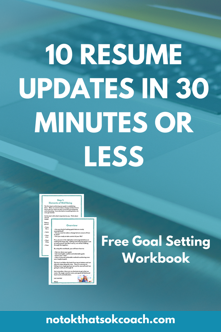 10 Resume Updates in 30 minutes or less