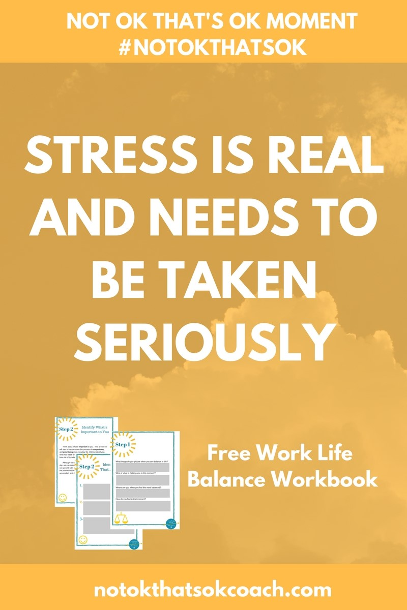 STRESS IS REAL AND NEEDS TO BE TAKEN SERIOUSLY