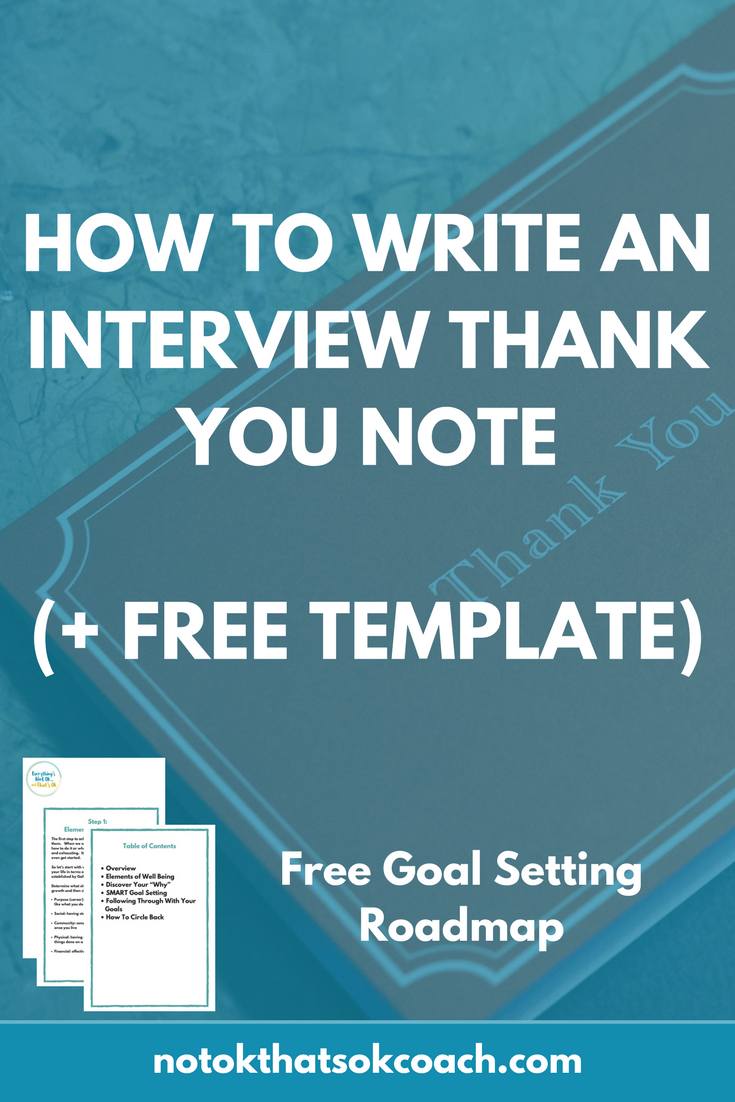 How to write an interview thankyou
